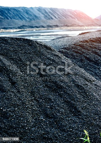 Coal mine stacking into a hill