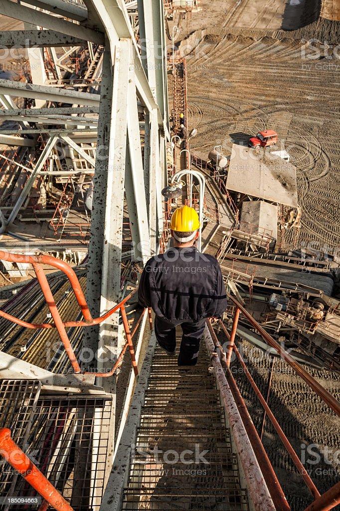 Coal mine worker stock photo