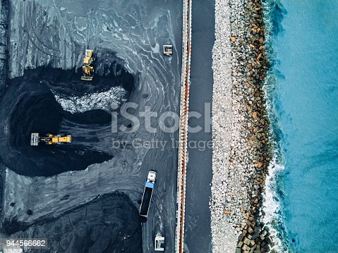 Aerial view of a coal mine