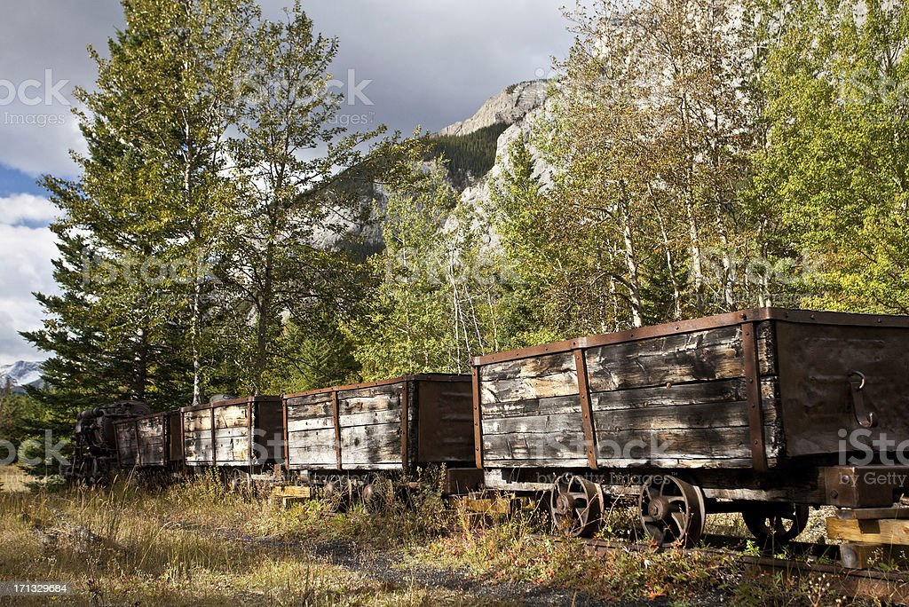 Coal Mining Cars royalty-free stock photo