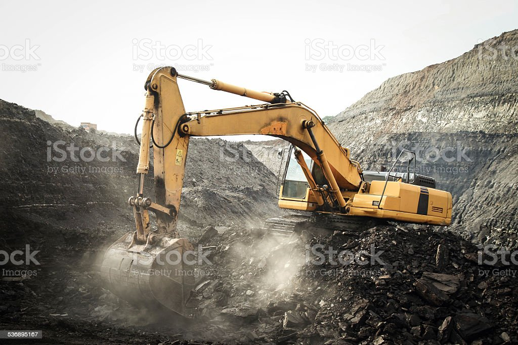 Coal Mining Excavator stock photo