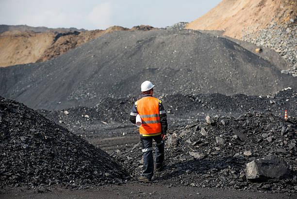 górnictwo węgla w otwartym pit - geologia zdjęcia i obrazy z banku zdjęć