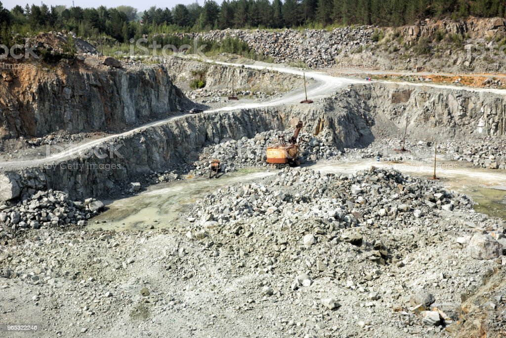 Coal mining in an open pit royalty-free stock photo