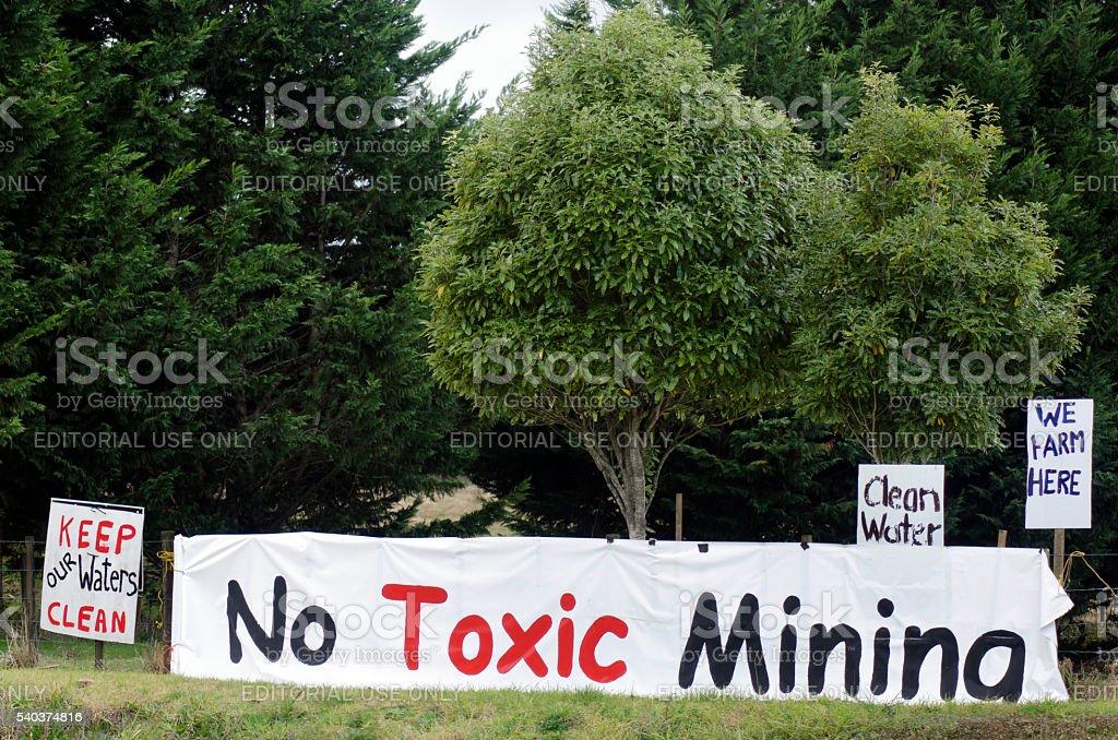Coal Mining in New Zealand stock photo