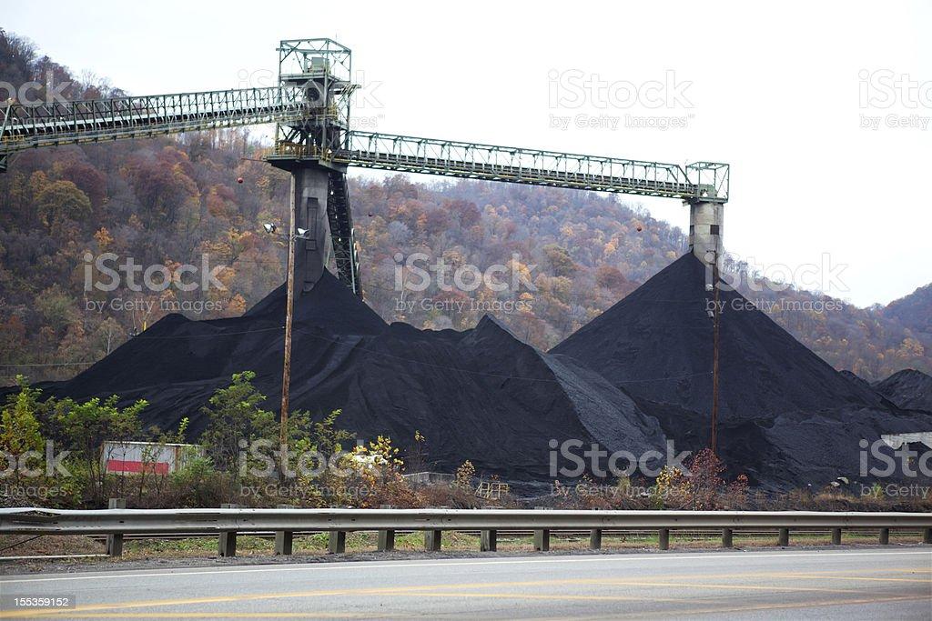 Coal Mining in West Virginia stock photo
