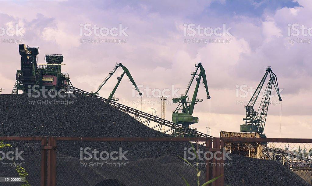 coal mining industry stock photo