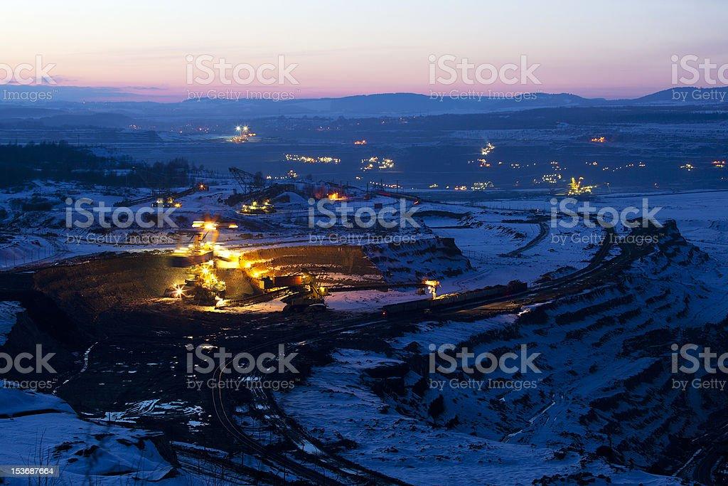Coal mining royalty-free stock photo