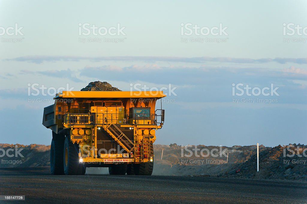 Coal Mining Truck on Haul Road stock photo