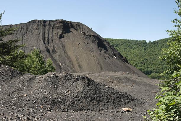 Coal Mining Waste Pile, Legacy Environmental Damage stock photo