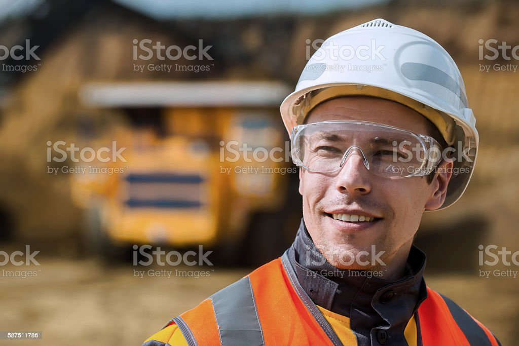 Coal mining wokrer stock photo
