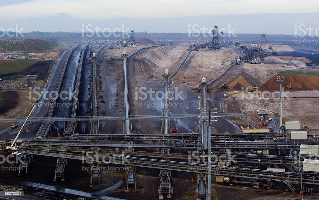Coal open-pit royalty-free stock photo