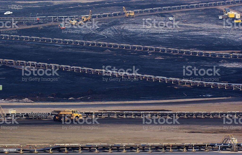 Carbone aperto-pit foto stock royalty-free