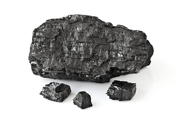 Coal Coal isolated on white background rock object stock pictures, royalty-free photos & images