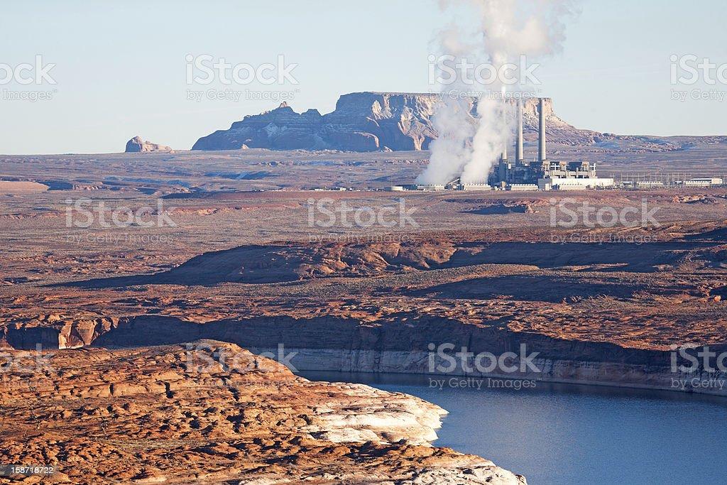 Coal plant stock photo