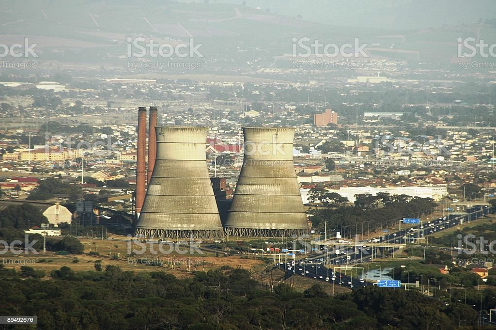 Coal plant royalty-free stock photo