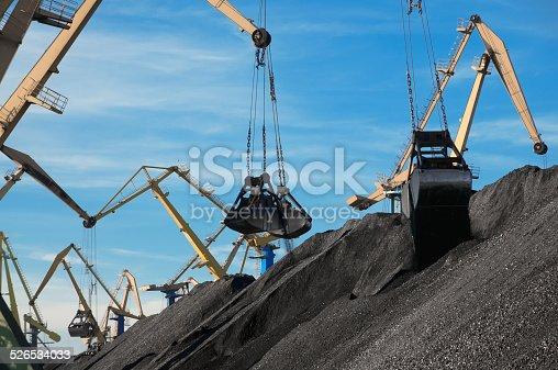 istock Coal, Portal cranes, clamshell 526534033