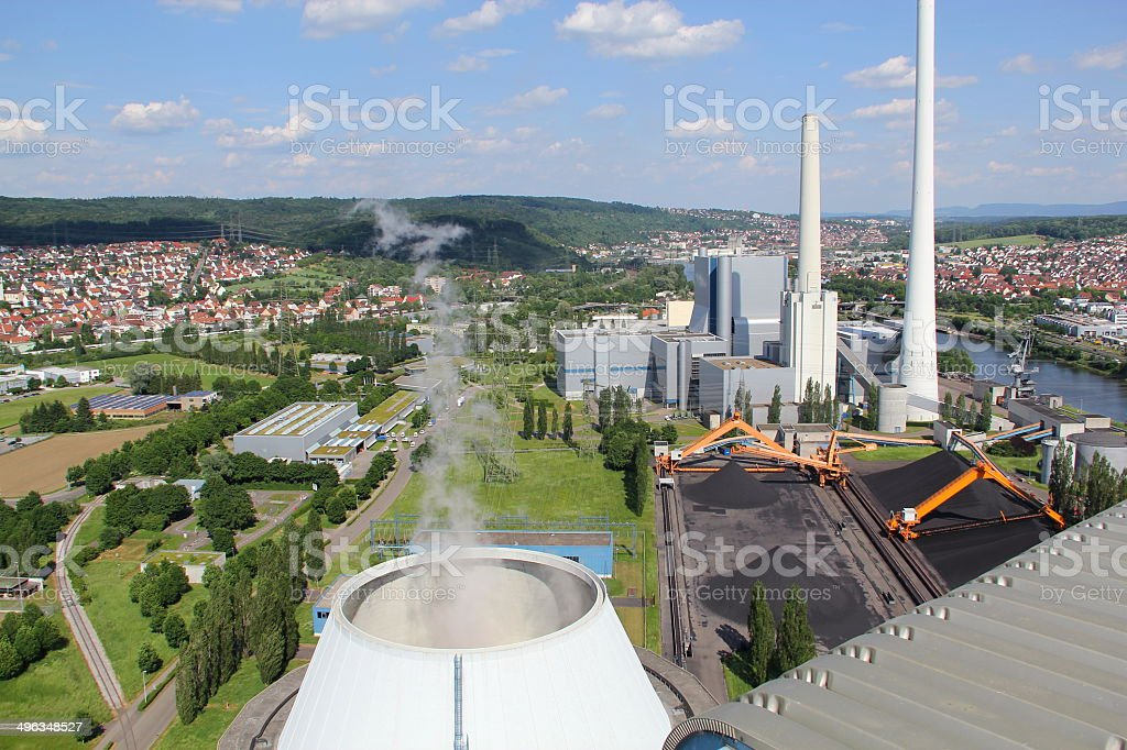 Coal power plant in Germany stock photo