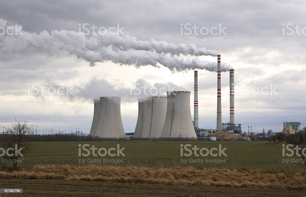 Coal power plant royalty-free stock photo