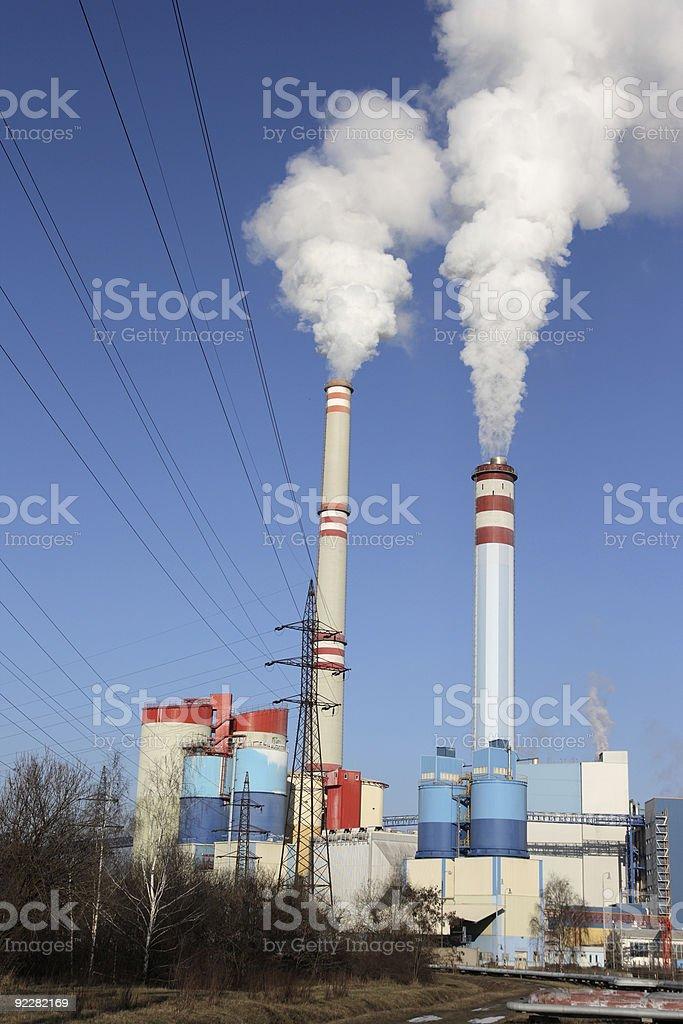 Coal power plant royalty-free stock photo