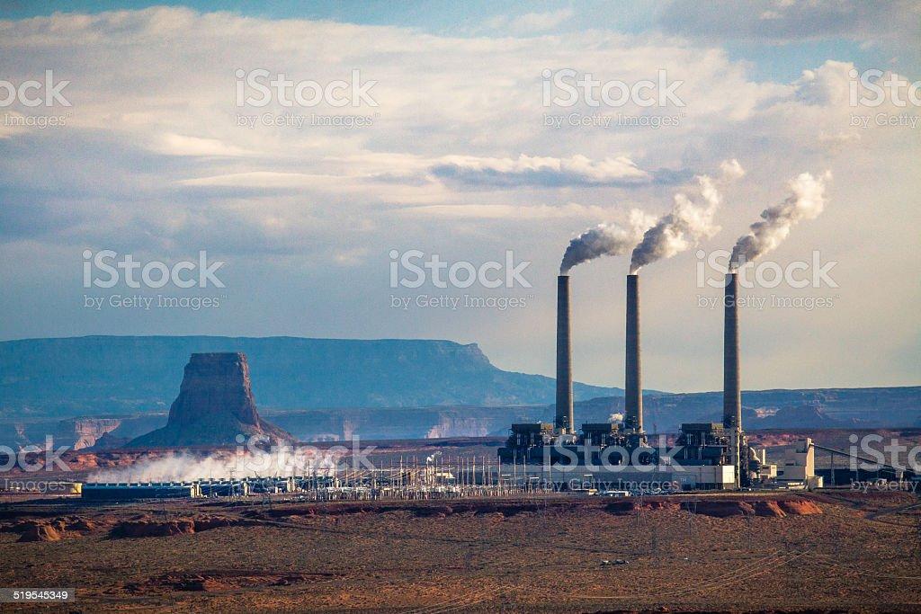 Coal Power Plant, Salt River Project: Navajo Generating Station stock photo