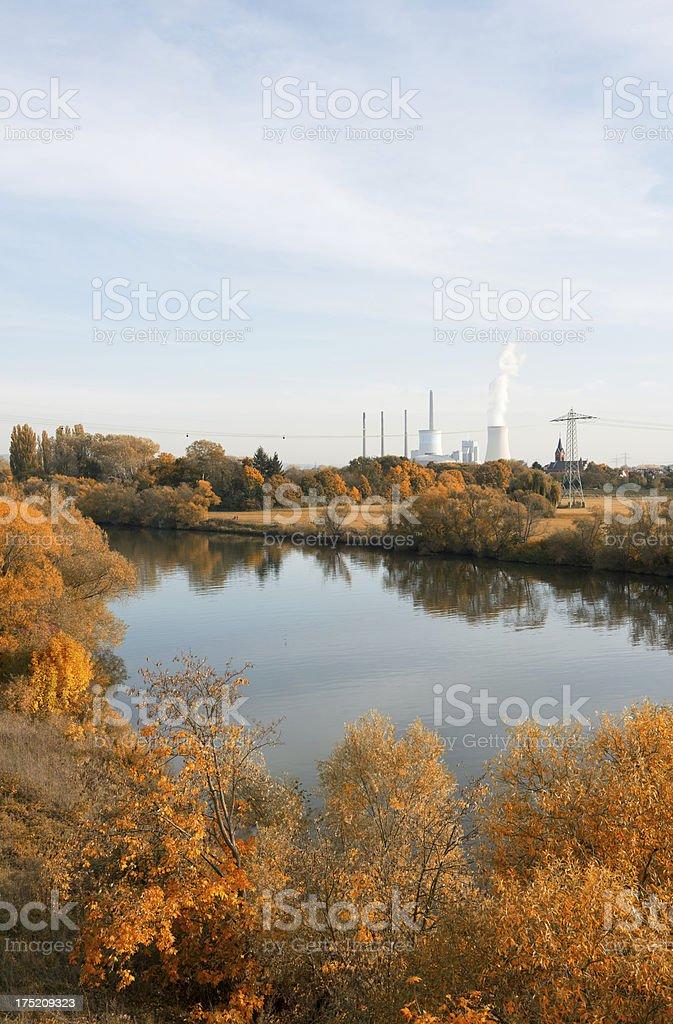 Coal Power Plant, Staudinger, Germany, Grosskrotzeburg, Energiewende stock photo