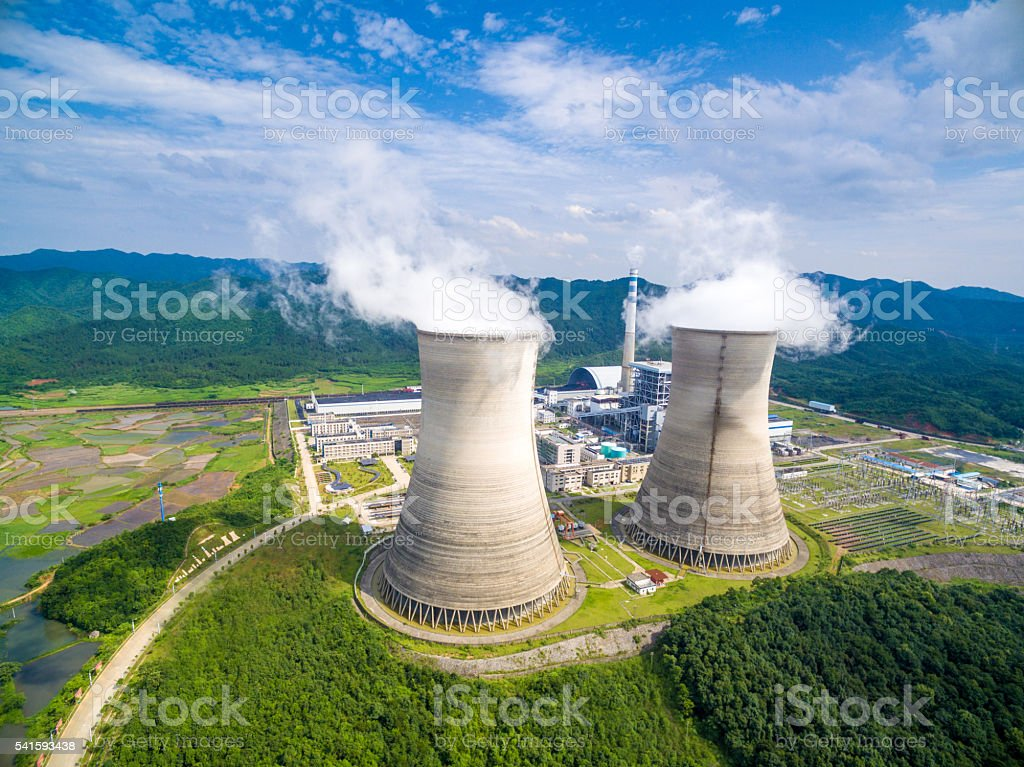 Coal Powerplant in China stock photo