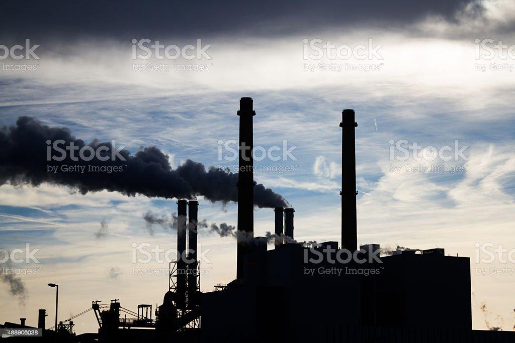 Coal powerplant stock photo
