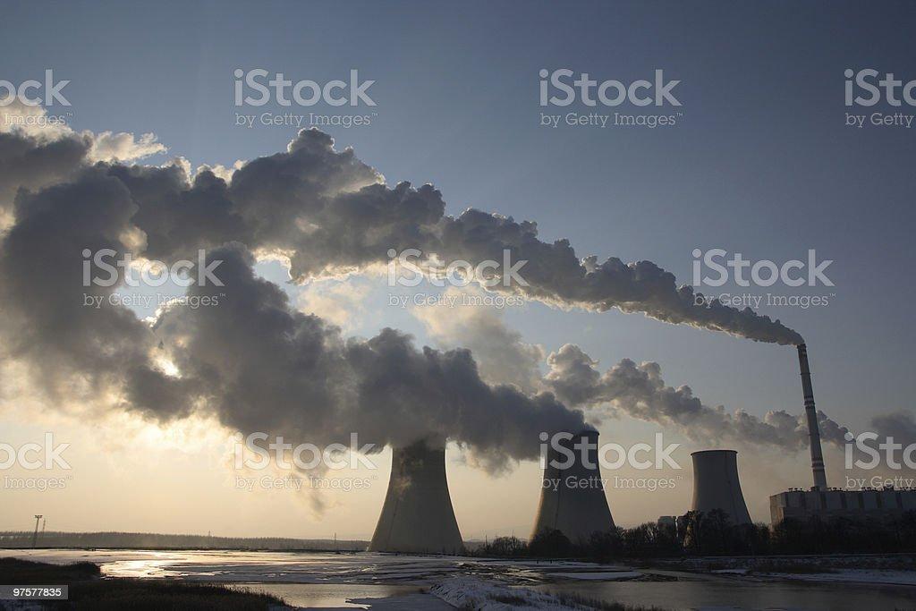 Coal powerplant vue photo libre de droits