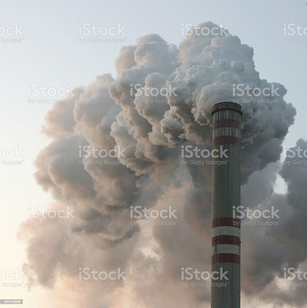 Coal powerstation chimney royalty-free stock photo