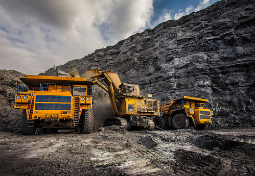 Coal Production At One Of The Open Fields Stock Photo - Download Image Now