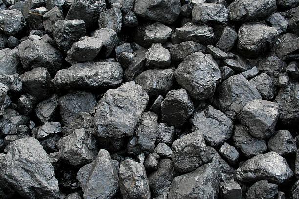 Coal rocks, background image. stock photo