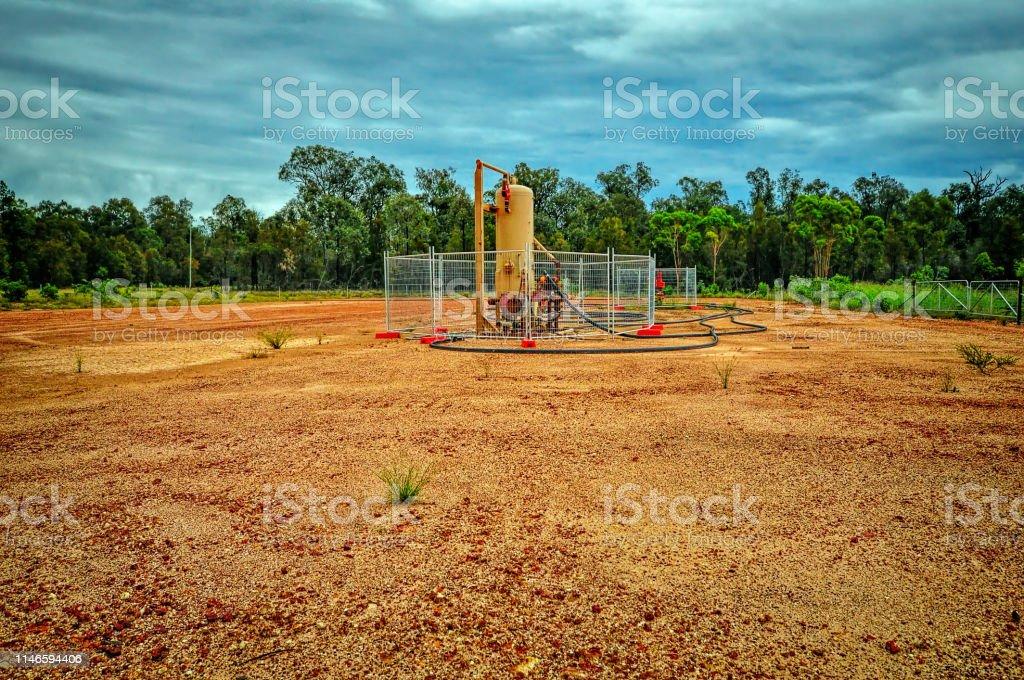 Coal Seam Gas pump - Royalty-free Australia Stock Photo