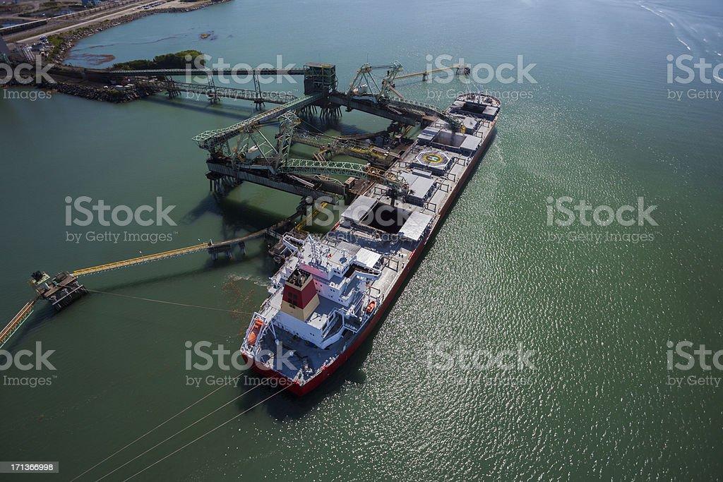 Coal Ship royalty-free stock photo