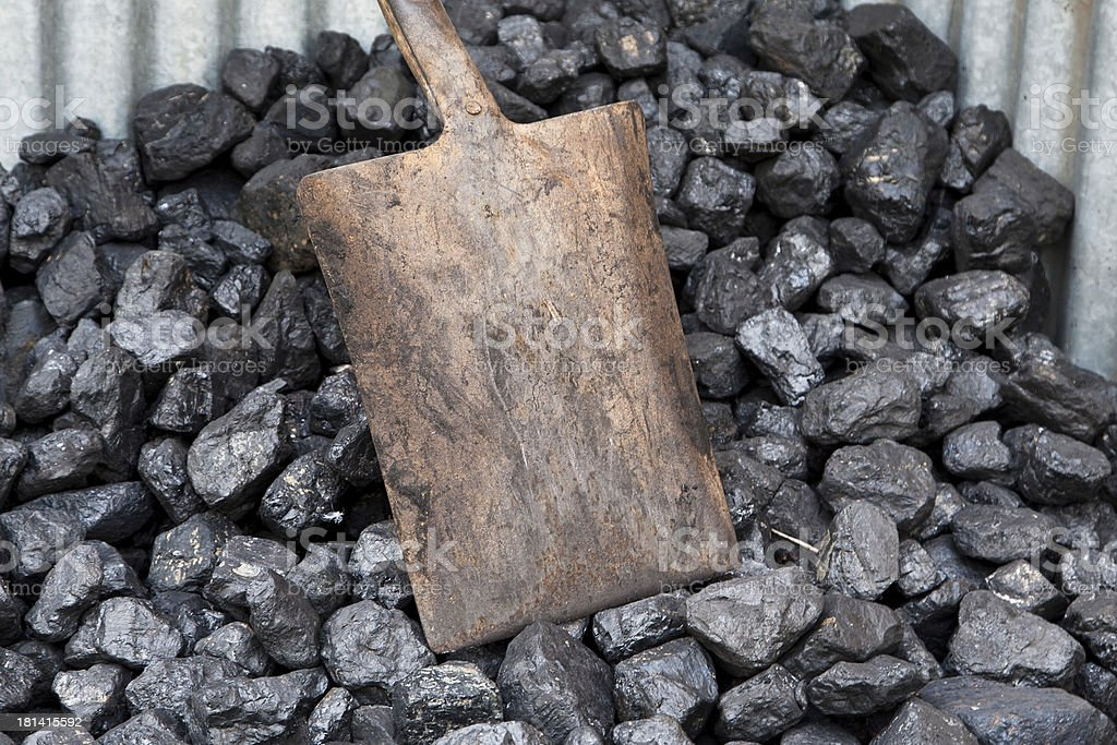 Coal shovel royalty-free stock photo