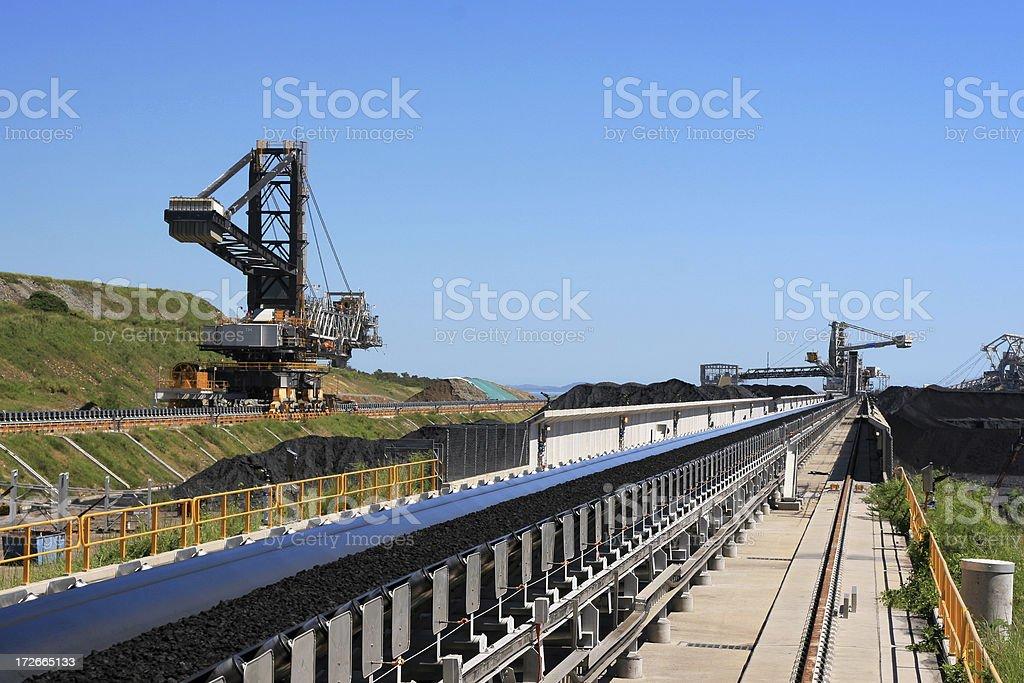 Coal Terminal Conveyor Belt stock photo