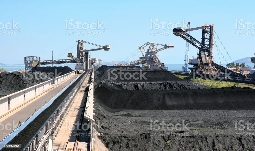 Coal Terminal stock photo