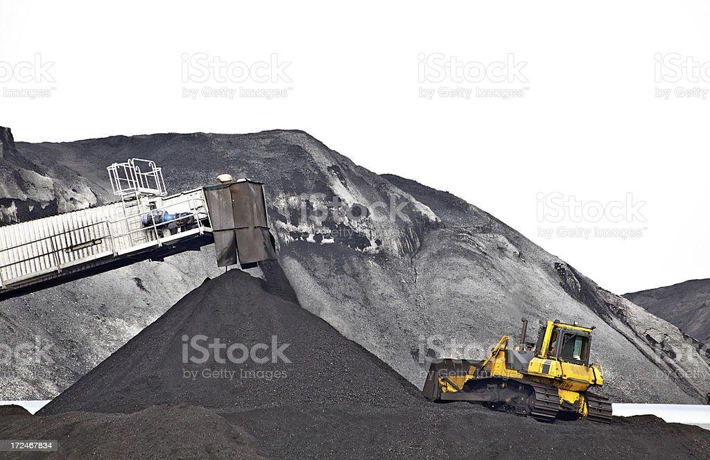 Coal throughput stock photo