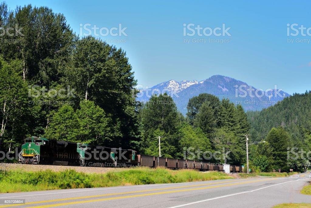 Coal Train on Siding stock photo