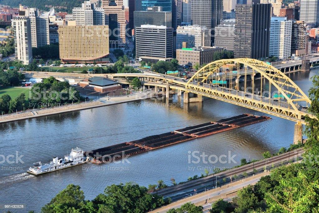 Coal transportation stock photo