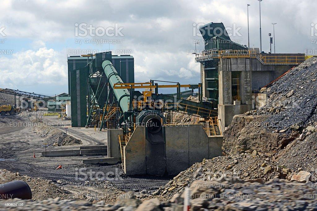 coal washing plant stock photo
