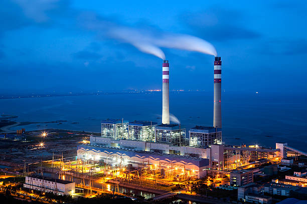 coal-fired power plants - cogeneration plant stock photos and pictures