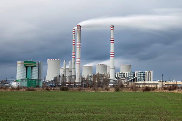 coal-fired power station.  Czech republic stock photo