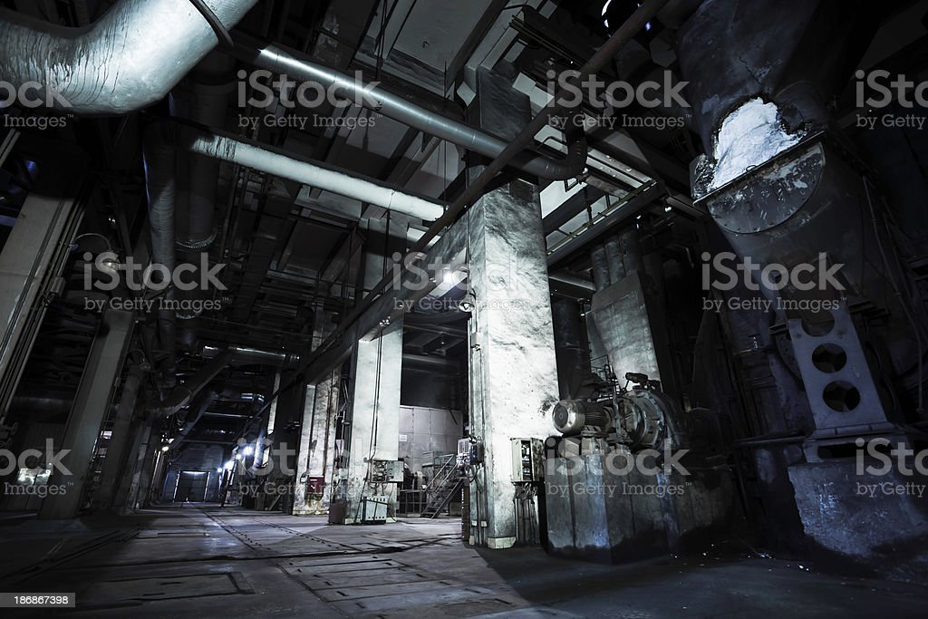 coal-fired Power Station \tworkshop royalty-free stock photo