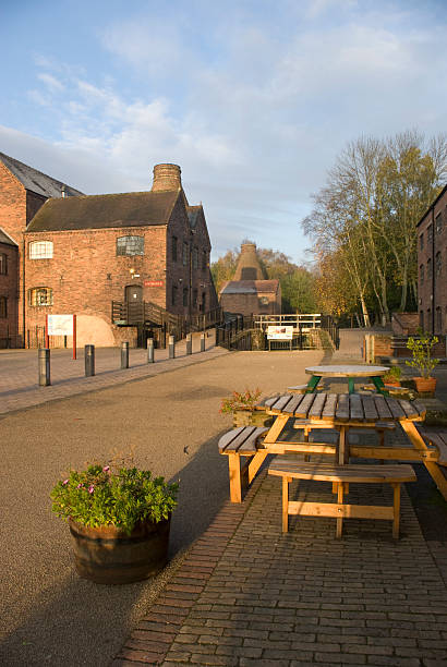 Coalport china museum at dawn stock photo