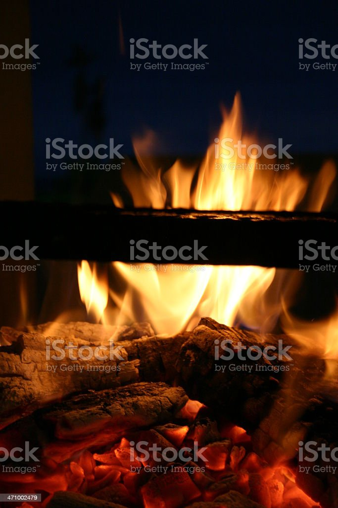 BBQ Coals royalty-free stock photo