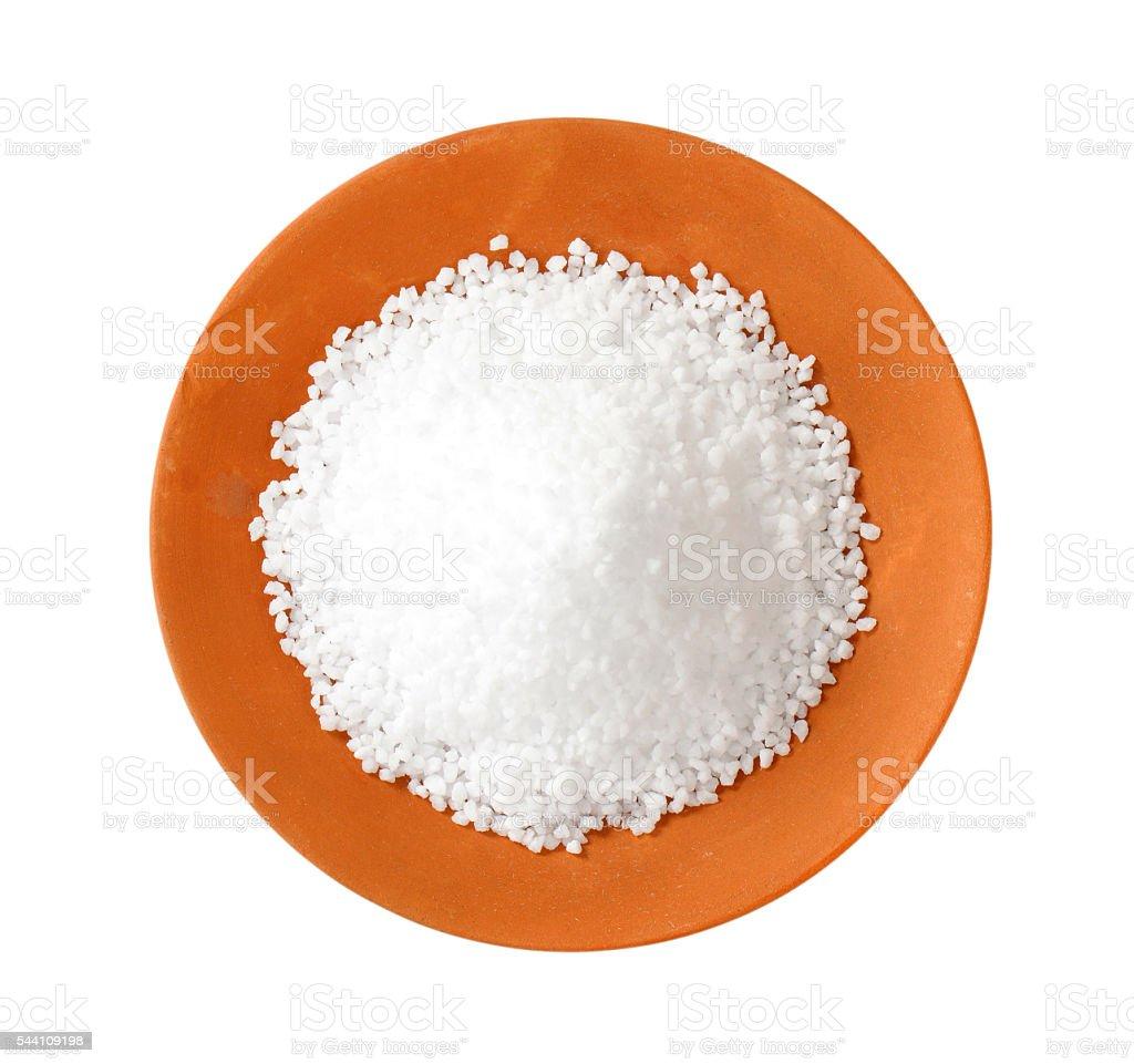 Coarse grained salt stock photo