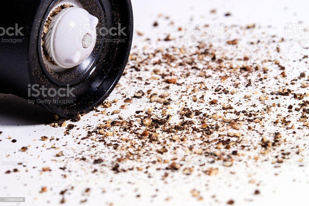Coarse Ground Black Pepper stock photo