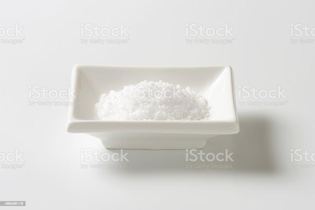 coarse ground salt stock photo