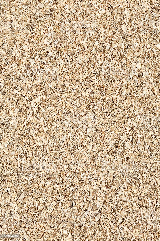 Coarse sawdust background royalty-free stock photo