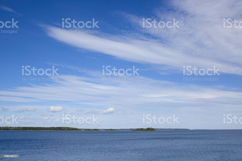 Coast and sea royalty-free stock photo